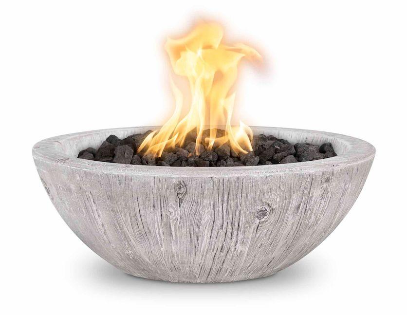 Ivory Wood Grain Sedona Fire bowl