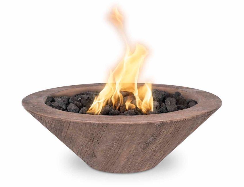 Cazo 31 Inch Wood Grain Fire Bowl