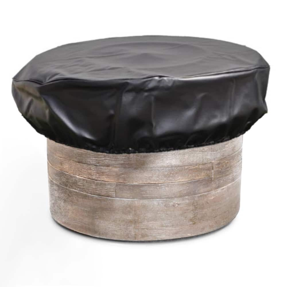 Round Vinyl HPC Fire Pit Cover