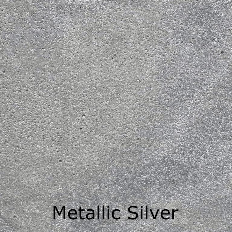 Metallic Silver Color Swatch