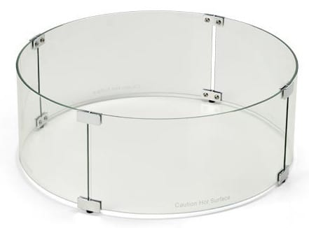 HPC Round 38 Inch Diameter Wind Guard For Fire Pits, WG-38RD