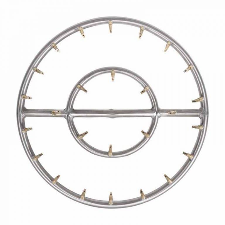 Round Stainless Steel Bullet Burner Double Ring