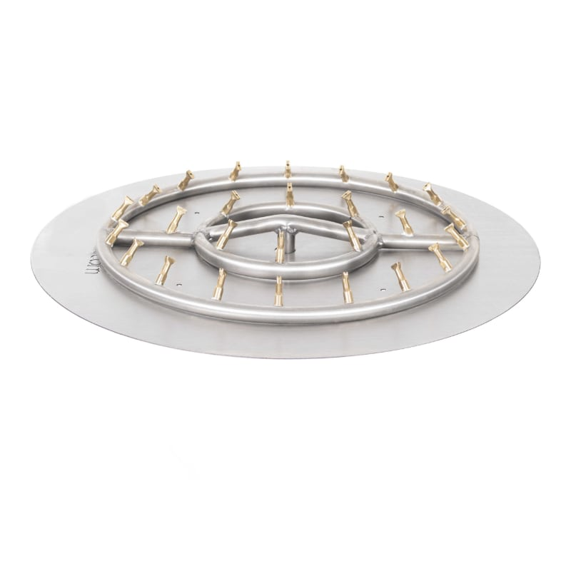 Round Flat Pan with Stainless Steel Round Bullet Burner