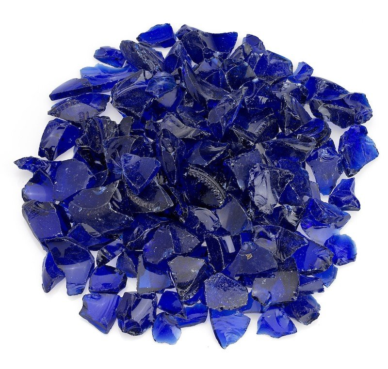 Dark Blue Recycled Fire Glass