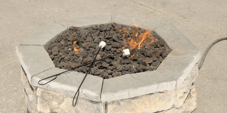 Not a great example of a fire pit flame