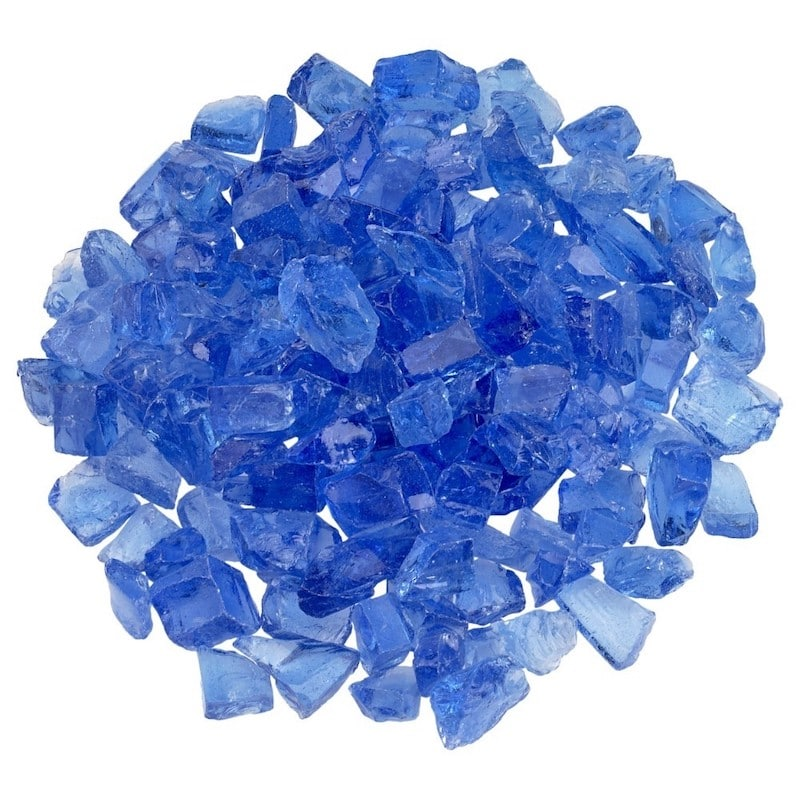 Light Blue Recycled Fire Glass
