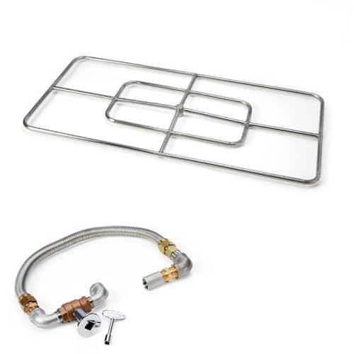 HPC Fire Rectangle Burner Kit 48 x 24 Inch