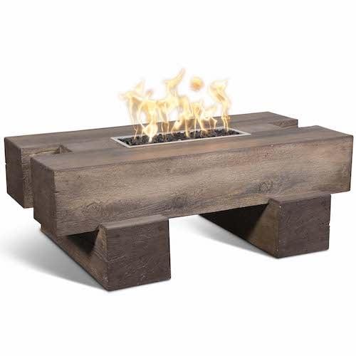 4822 Palo Fire Pit Wood Grain Concrete Match Lit
