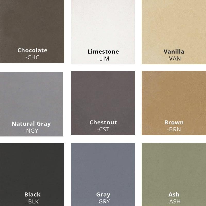 GFRC Standard Colors