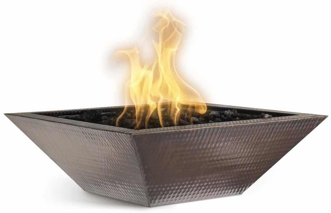 Maya Copper Fire Bowl