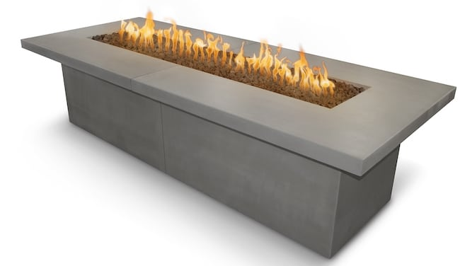 Newport Fire Table 72 x 36 Inches Natural Grey