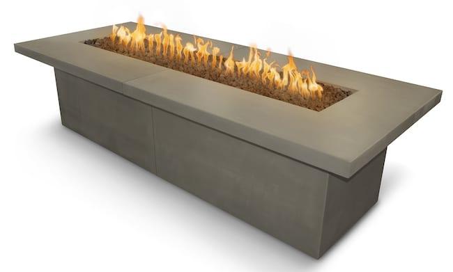 Newport Fire Table 144 x 48 Ash