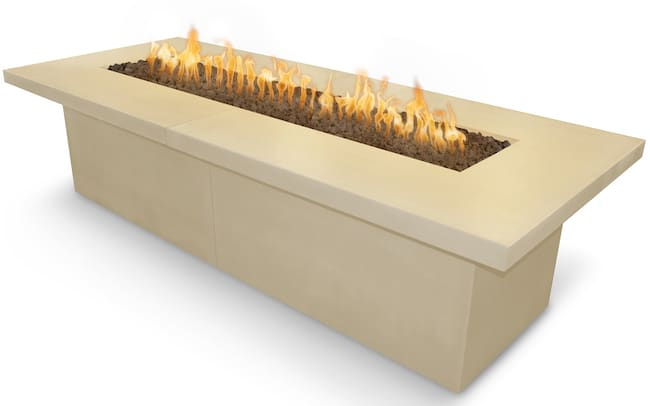 Newport Fire Table 120 x 48 Vanilla