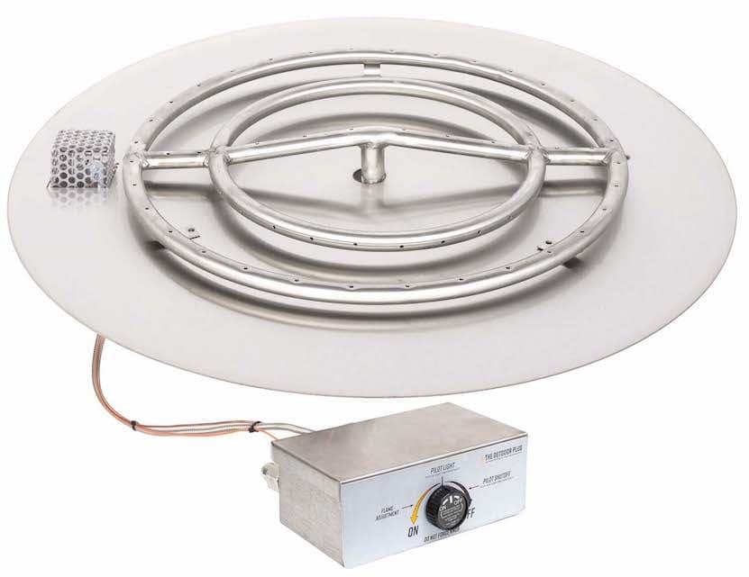 Round Flat Pan and Burner Flame Sense Ignition