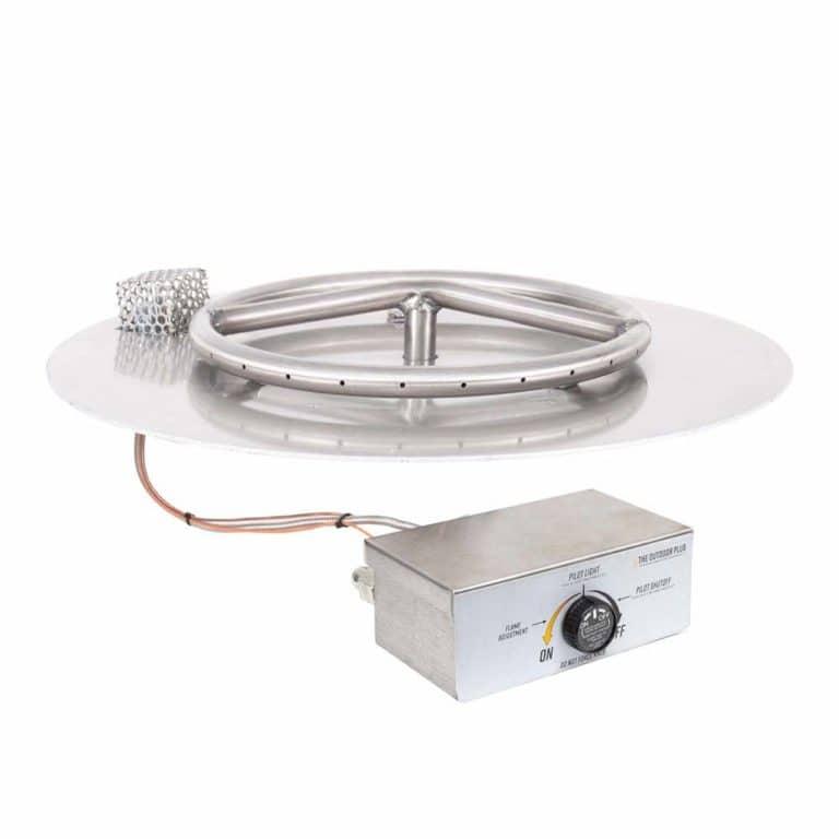 Round Flat Pan and Round Single Ring SS Burner FSML