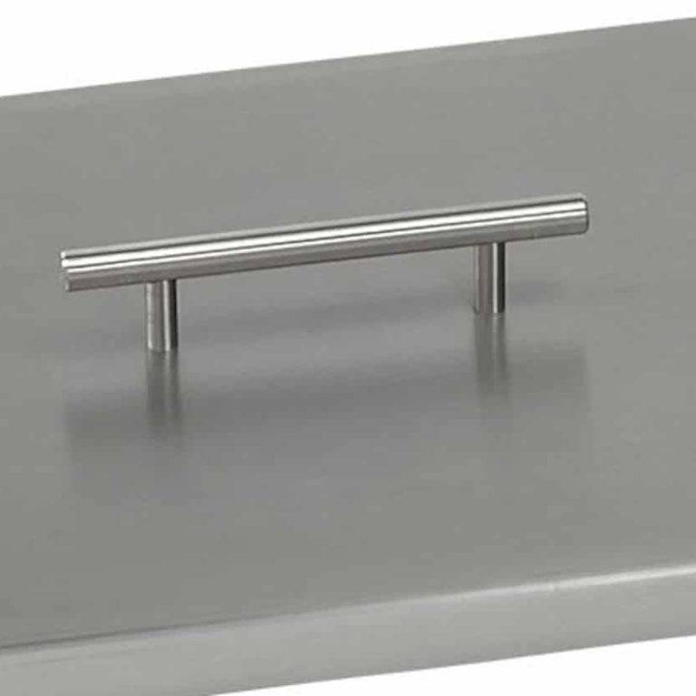 Close up of Fire Pit Cover Handle - Stainless Steel