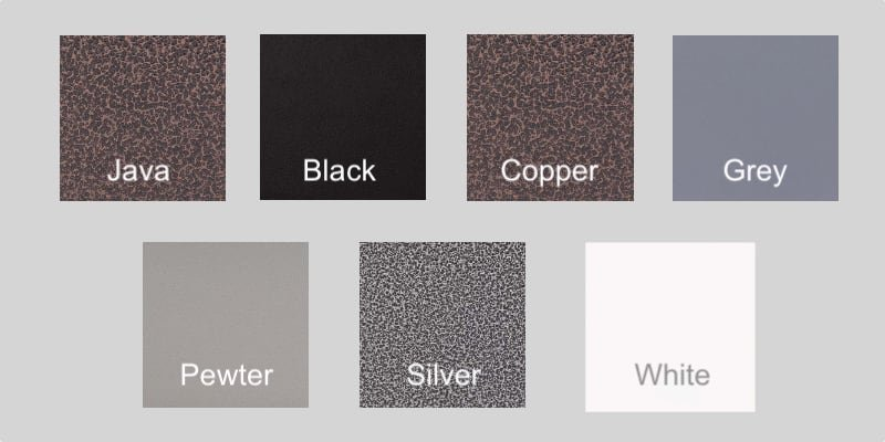 Powder Coated Color Options
