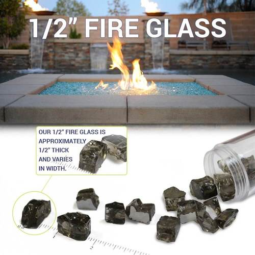 Fire Glass Size Diagram