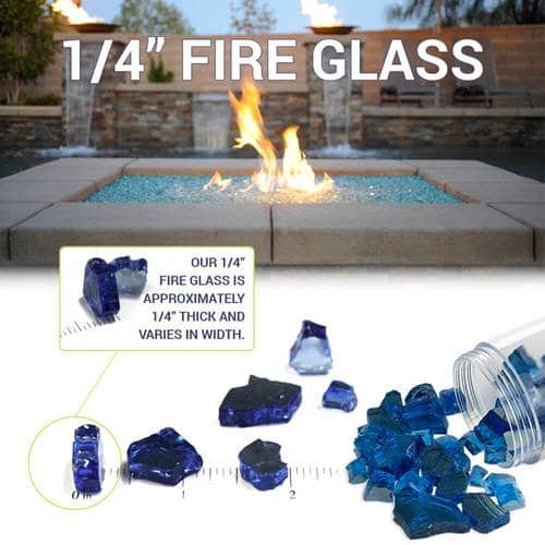 Diagram Explaining the Size Of Fire Glass