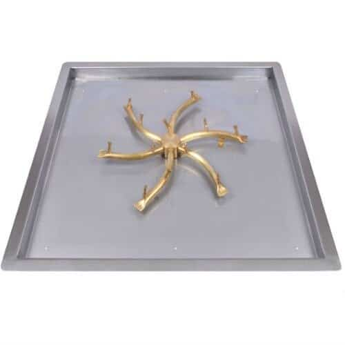 "24"" Square Drop In Match Light Tray w/ Bullet Burner - Certified"