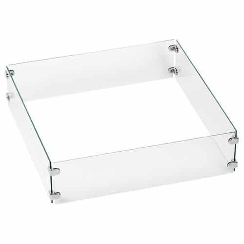 Square Tempered Glass Wind Guard
