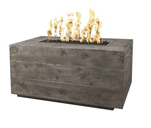 Catalina Wood Grain Fire Pit in Oak