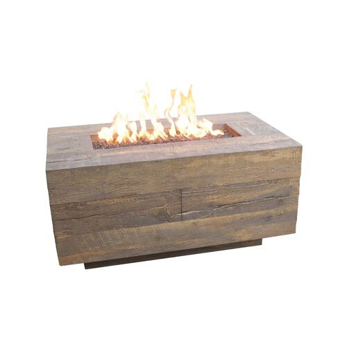 The Catalina Wood Grain Fire Pit with the Oak Finish