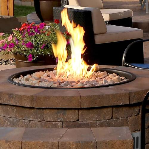 Image Of  How A Drop In Pan Sits Neatly on its Flange For A Professional Looking Fire Pit