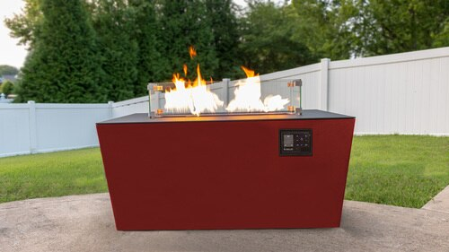 Red Desert with Black Top Echo Hue Fire Pit