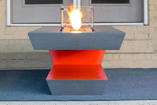 Resonate Fire Pit Table with Red Highlight