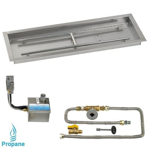 Rectangular Drop In Tray with Electronic Ignition