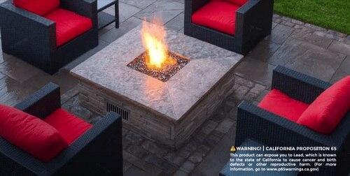 A Square Flat Fire Pit Pan