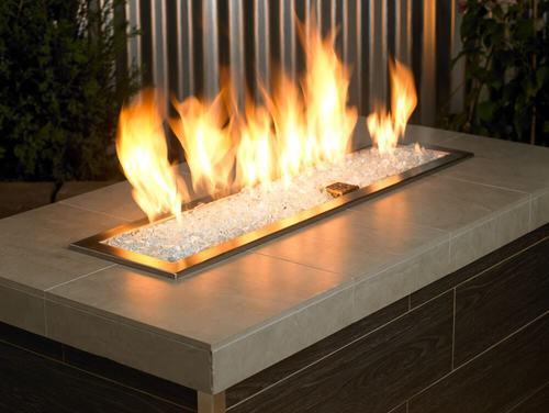 Starfire Classic Fire Glass Alight in a Fire Pit