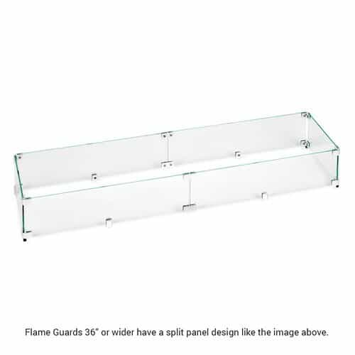 "Flame Guards 36"" and Longer Are Split Panel Design"