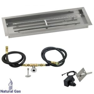 Rectangular Drop In Tray and Spark Ignition Kit and Natural Gas Connections