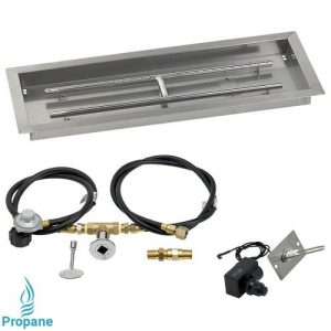 Rectangular Drop In Tray and Spark Ignition Kit and Propane Gas Connections