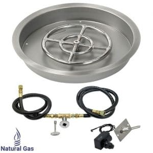 Round Drop-In Pan with Spark Ignition Kit
