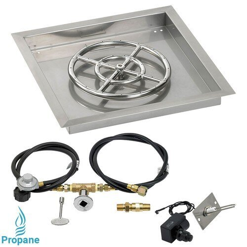 Square Drop In Tray with Spark Ignition Kit and Propane Connection Kit