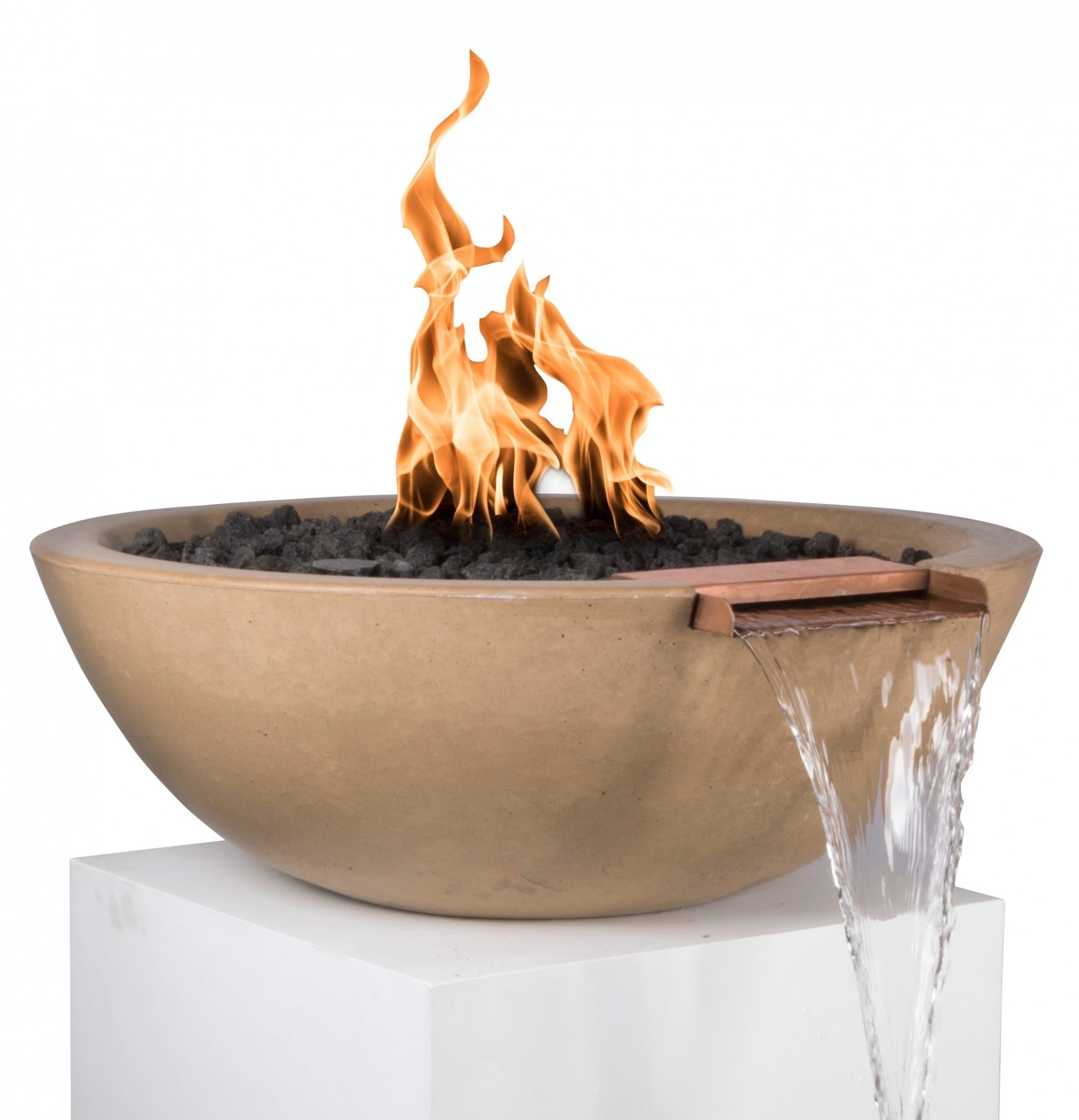 Brown Sedona Fire and Water Bowl