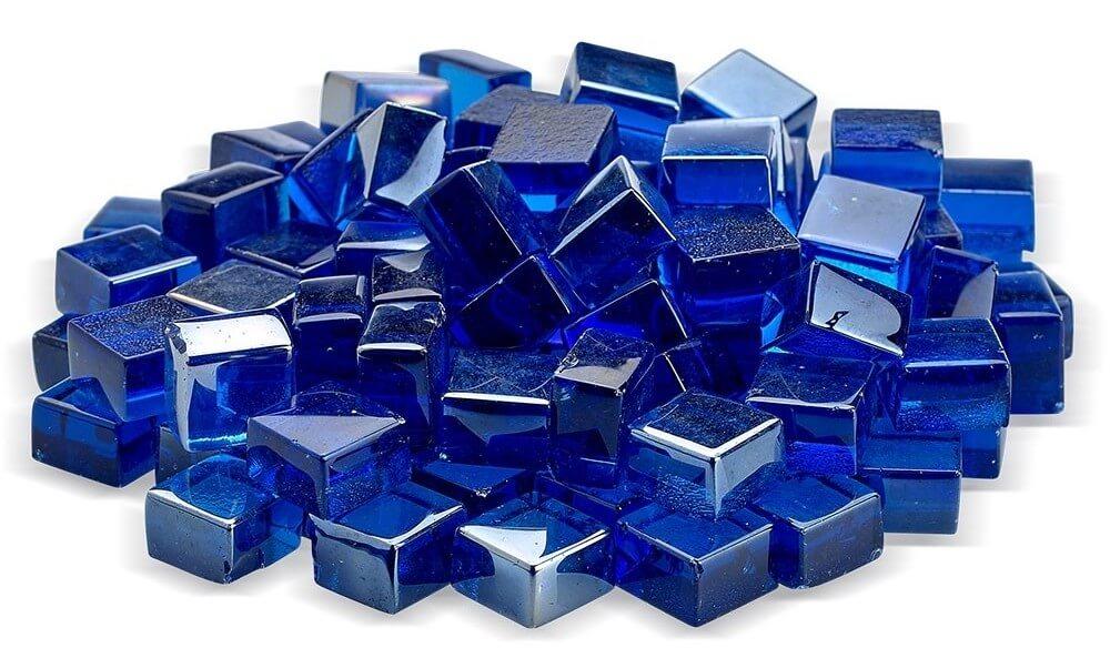 Cobalt Blue Luster Fire Glass 2.0
