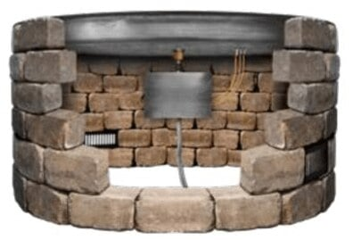 Image Showing A Drop In Pan Inserted Into Fire Pit Structure