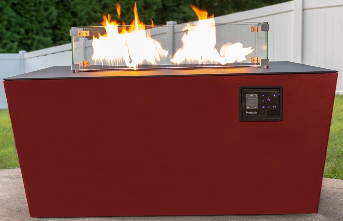 Echo Hue 24 Sound Reactive Fire Pit Desert Red