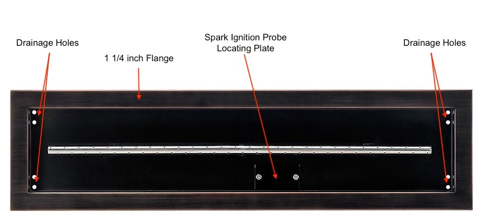 Linear Fire Pit Tray Features Diagram